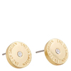 Snö Of Sweden Harly Small Earring Gold/Clear (10 mm)