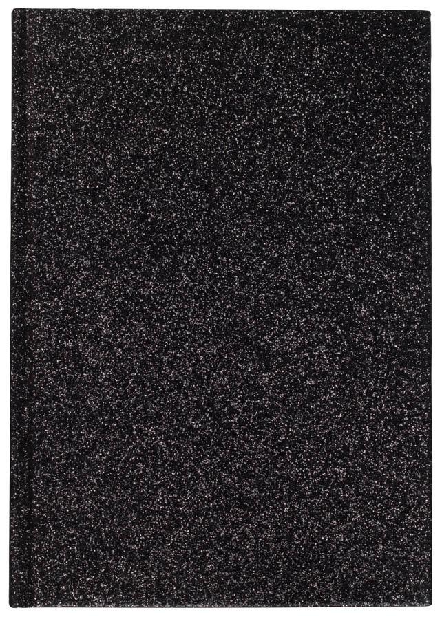 DARK Glitter Notebook A5, Black