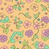 Tweezerman Mini Slant Tweezer Vintage Floral Yellow