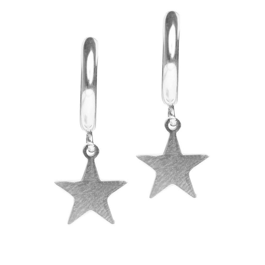 DARK Star Hoop, Silver
