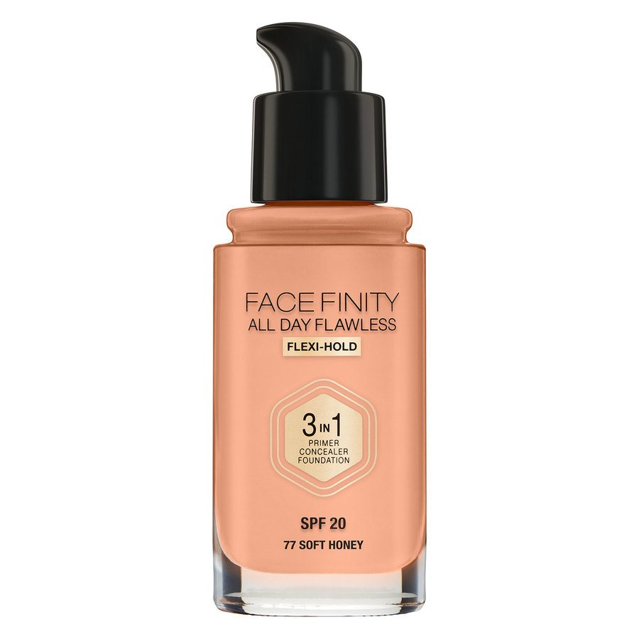 Max Factor Facefinity 3 In 1 Foundation (30ml), 77 Soft Honey