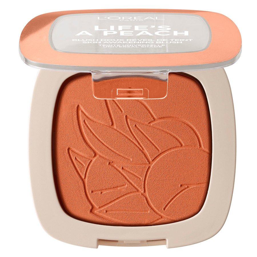 L'Oréal Paris Life's a Peach Blush Powder, Peach Addict (9g)