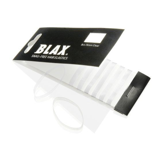 Gumki do włosów Blax Snag-Free Hair Elastics (4mm), 8 sztuk, przezroczysty