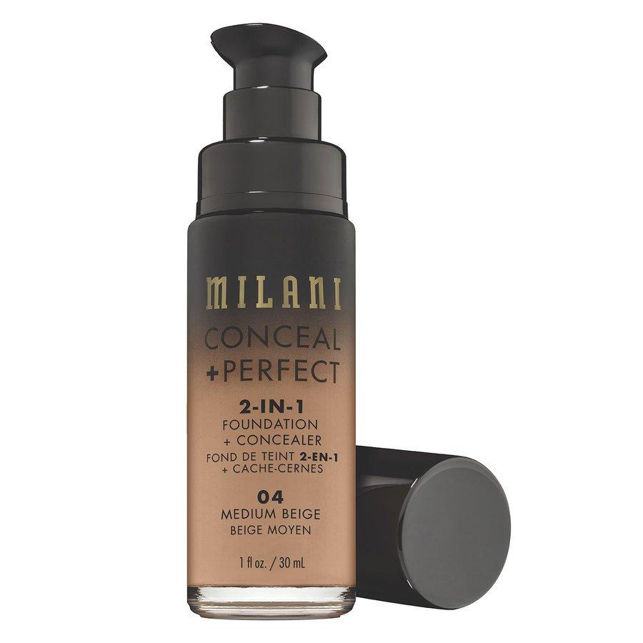 Milani Conceal & Perfect 2-In-1 Foundation + Concealer, Medium Beige (30ml)