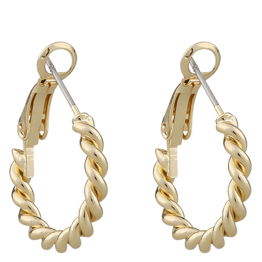 Snö Of Sweden Way Small Ring Earring Plain Gold
