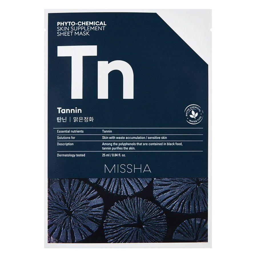 Missha Phytochemical Skin Supplement Sheet Mask Tannin (25 ml)