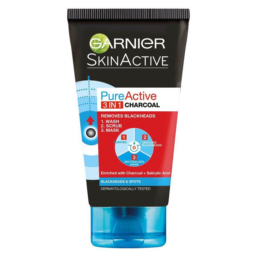 Garnier PureActive 3-In-1 Charcoal (150 ml)