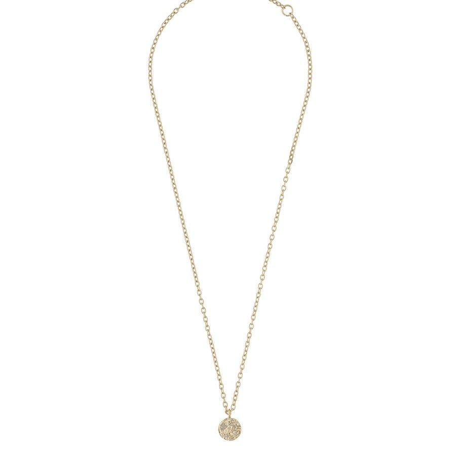 Snö Of Sweden Rue Coin Pendant Necklace Plain Gold 40 cm