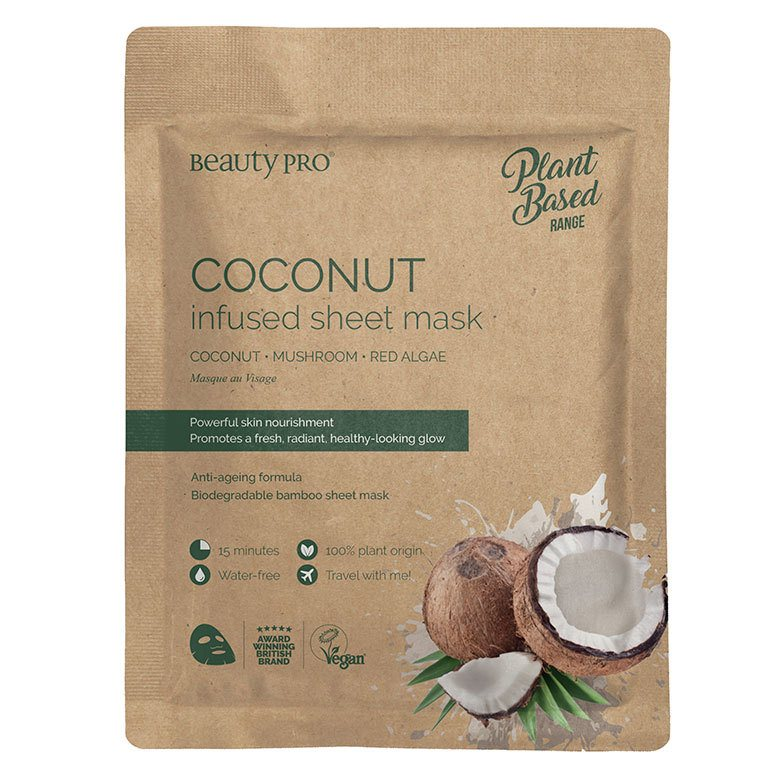 Beauty Pro Plant Based Coconut Infused Sheet Mask 22ml