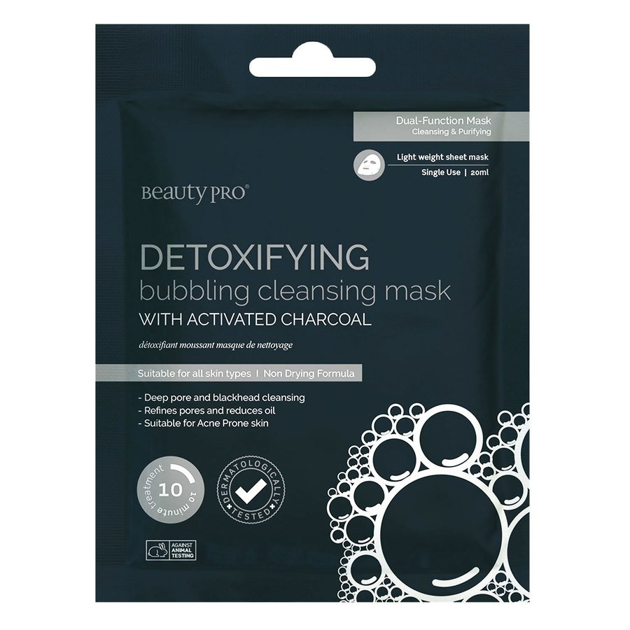 BeautyPro Detoxifying Bubbling Cleansing Mask With Activated Charcoal 20 ml