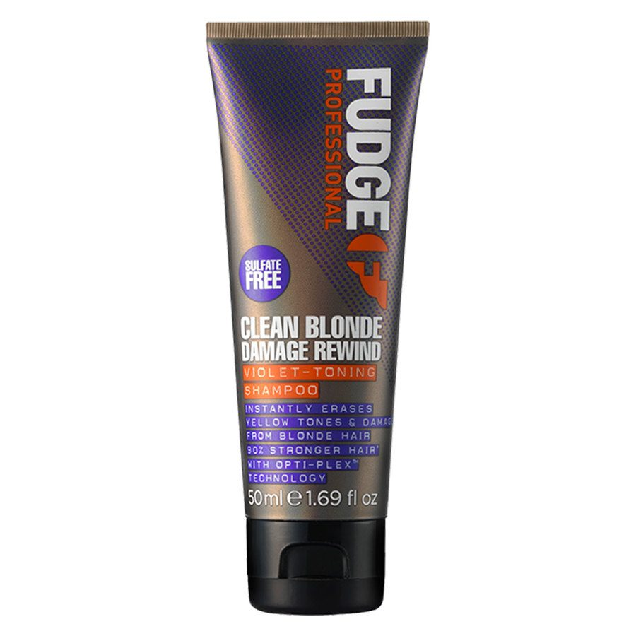 Fudge Clean Blonde Damage Rewind Violet Toning Szampon (50 ml)