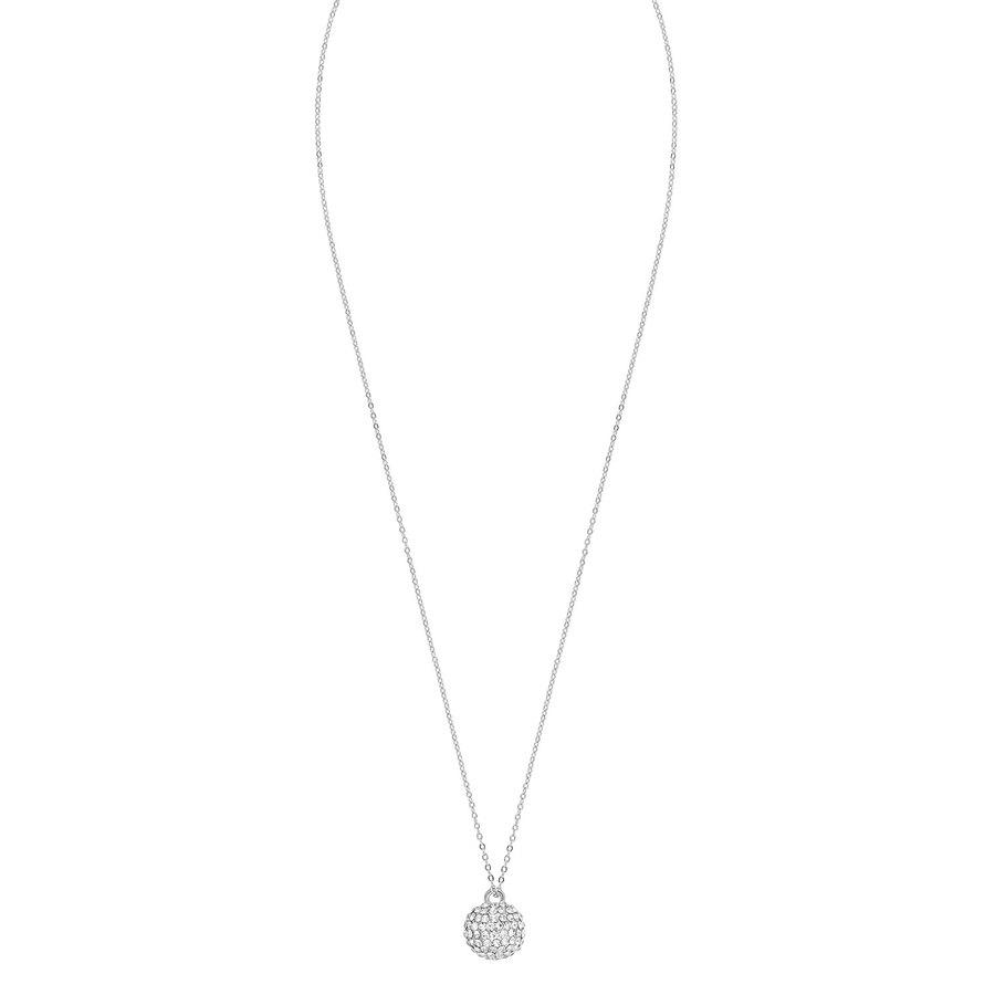 Snö Of Sweden Zin Pendant Neck (60 cm) ─ Silver / Clear