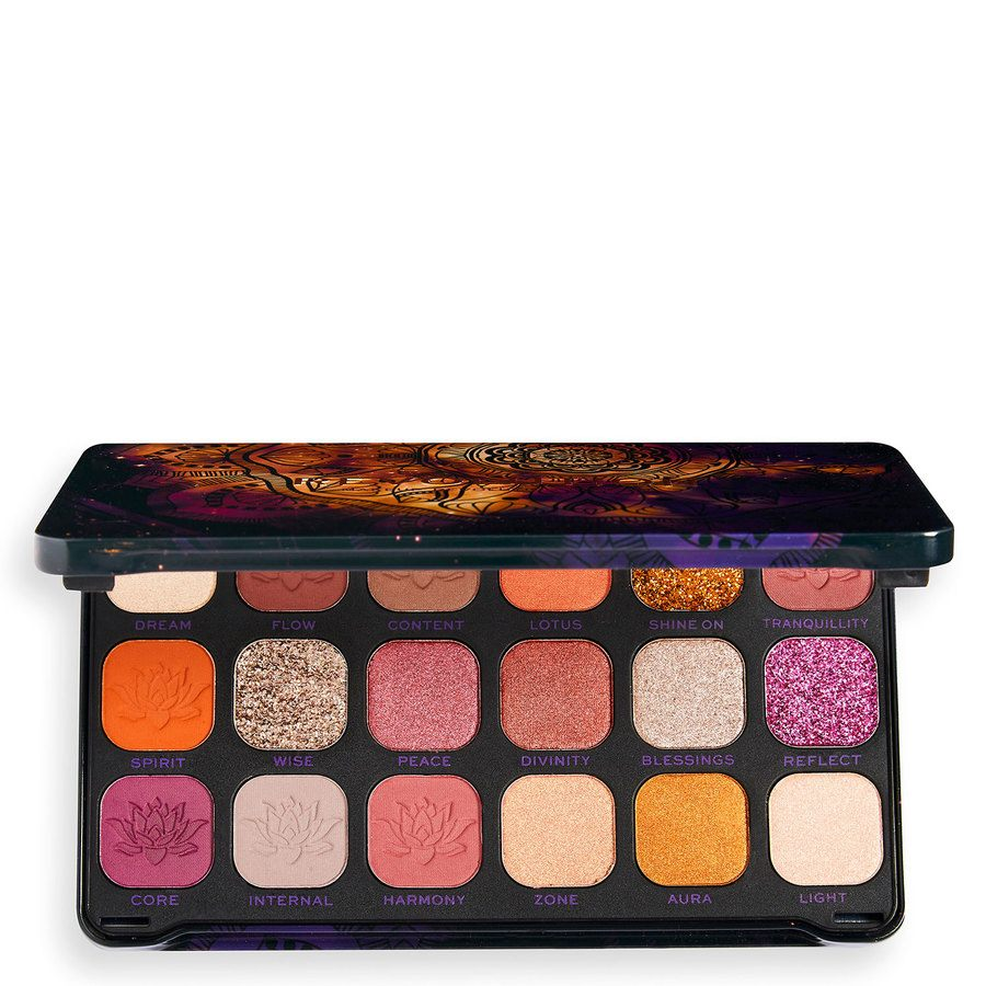 Makeup Revolution Forever Flawless Namaste With Cannabis Sativa Eyeshadow Palette 18x1,1g