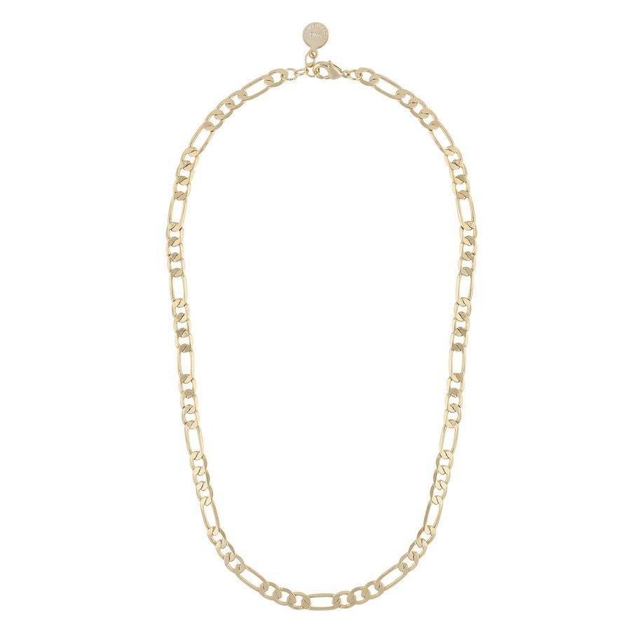 Snö Of Sweden Anchor Chain Necklace Plain Gold 42 cm