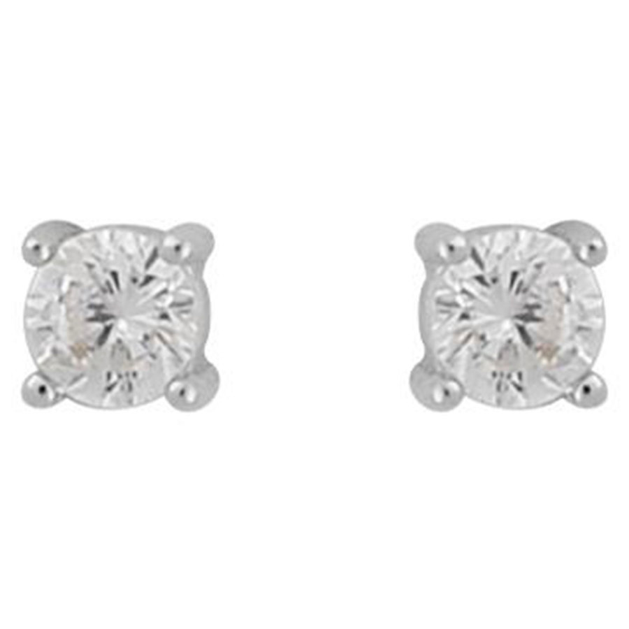 Snö Of Sweden Camille Small Stone Earring Silver / Clear