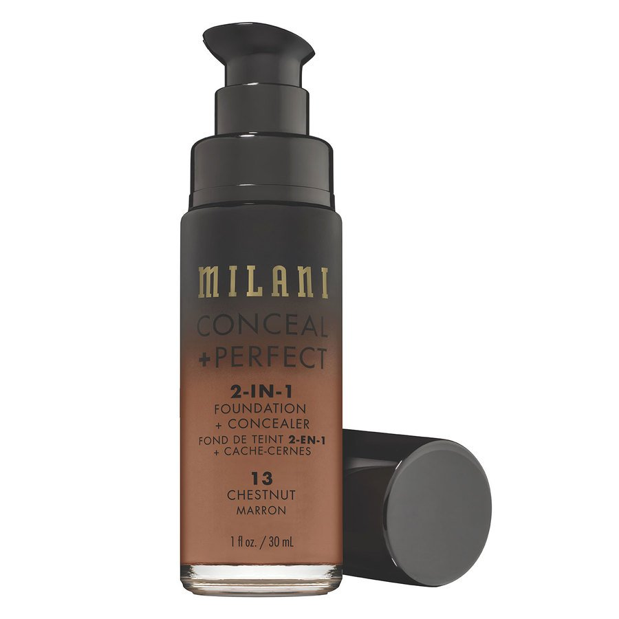 Milani Conceal & Perfect 2-In-1 Foundation + Concealer, Chestnut (30ml)
