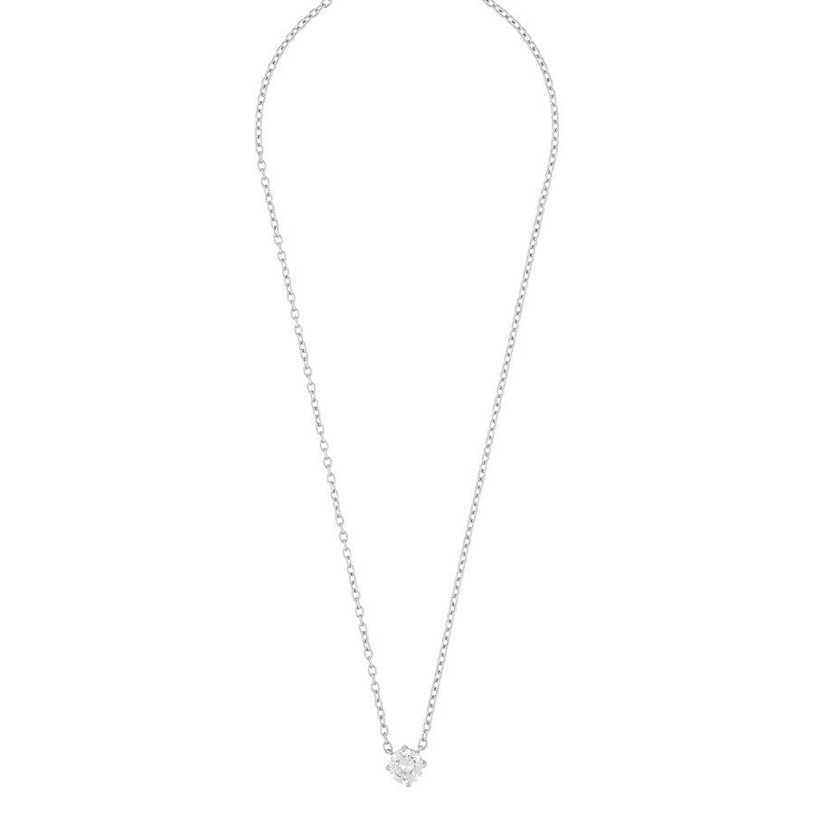 Snö Of Sweden Luire Stone Pendant Necklace Silver / Clear 40cm