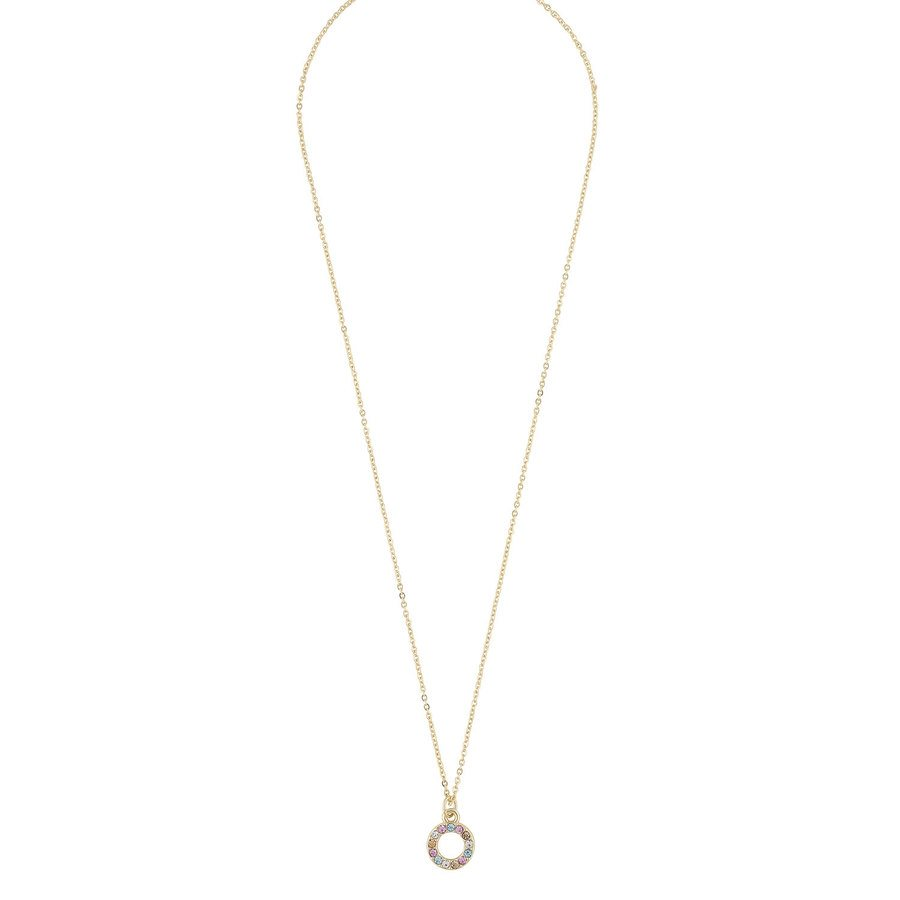 Snö Of Sweden Lindsey Small Pendant Necklace Gold / Pink Mix 42 cm