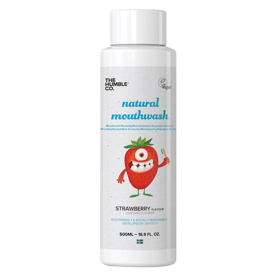 The Humble Co. Humble Natural Mouthwash Kids Strawberry 500 ml
