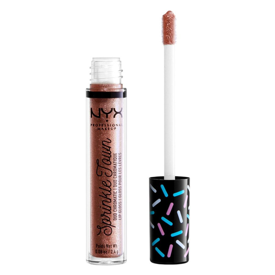 NYX Professional Makeup Sprinkle Town Duo Chromatic Lip Gloss, 01 Shimmer Cravings (2,4g)