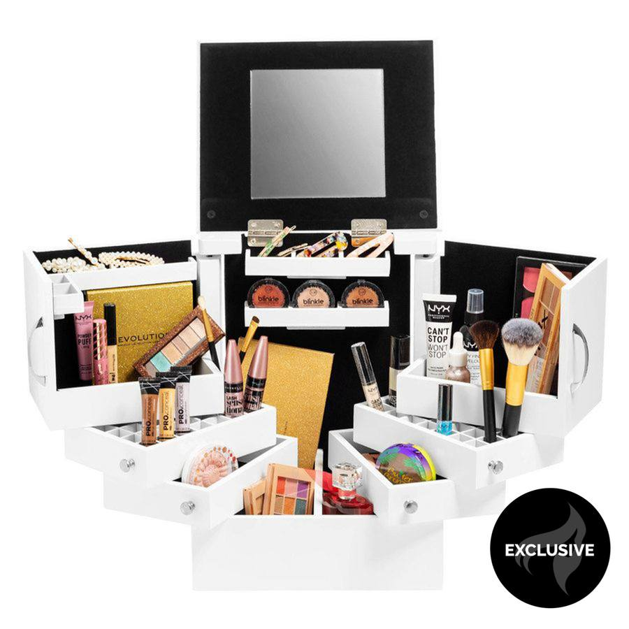 Shelas Deluxe Cosmetic Organizer White