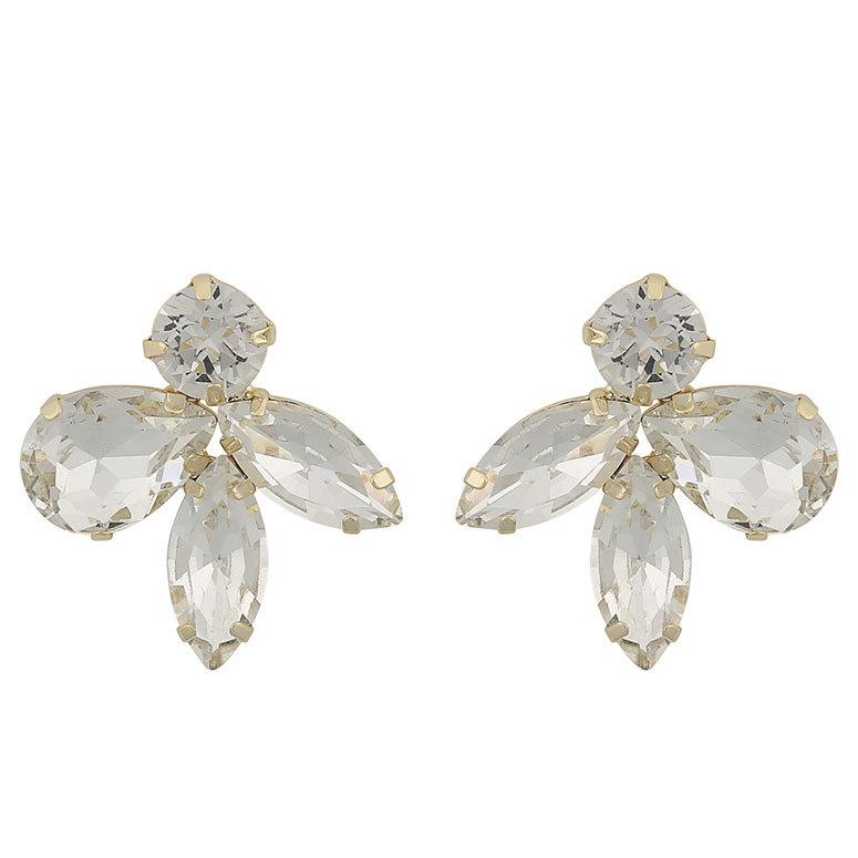 Snö Of Sweden Smith Earring Gold/Clear 29 mm