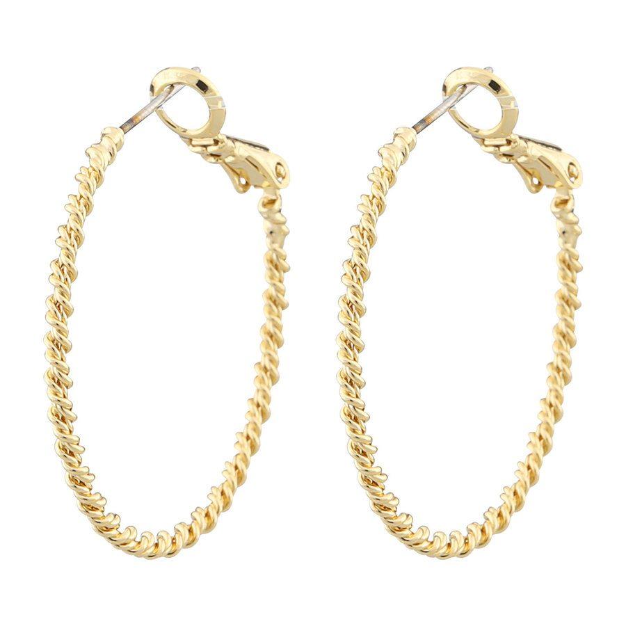 Snö Of Sweden Madeleine Ring Ear 30mm, czyste złoto