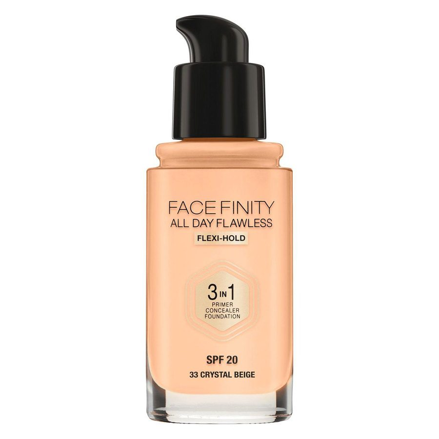 Max Factor Facefinity All Day Flawless 3-In-1 Foundation (30 ml) ─ # 33 Crystal Beige