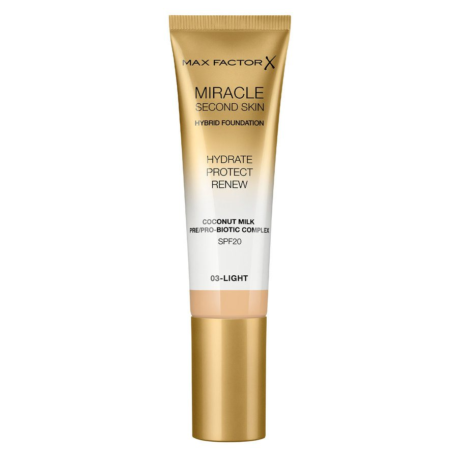 Max Factor Miracle Second Skin Foundation - #003 Light (33 ml)