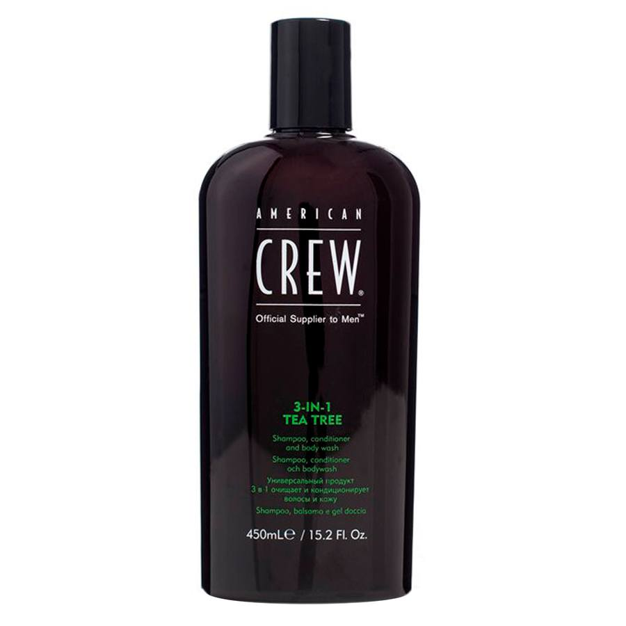 American Crew 3 In 1 Tea Tree Szampon, Balsam and Body Wash (450 ml)