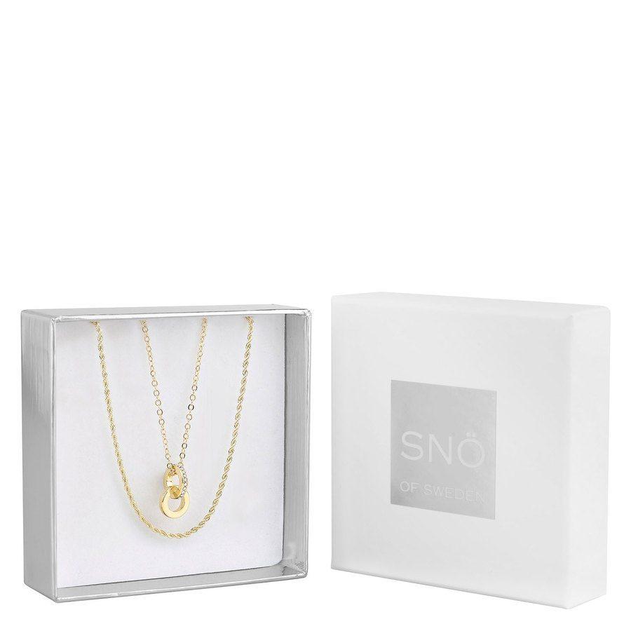 Snö of Sweden Crystal Royal Pendant Necklace Set – Gold / Clear