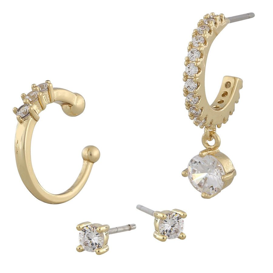 Snö Of Sweden Luire Cuff Earring Mix 1 Gold / Clear