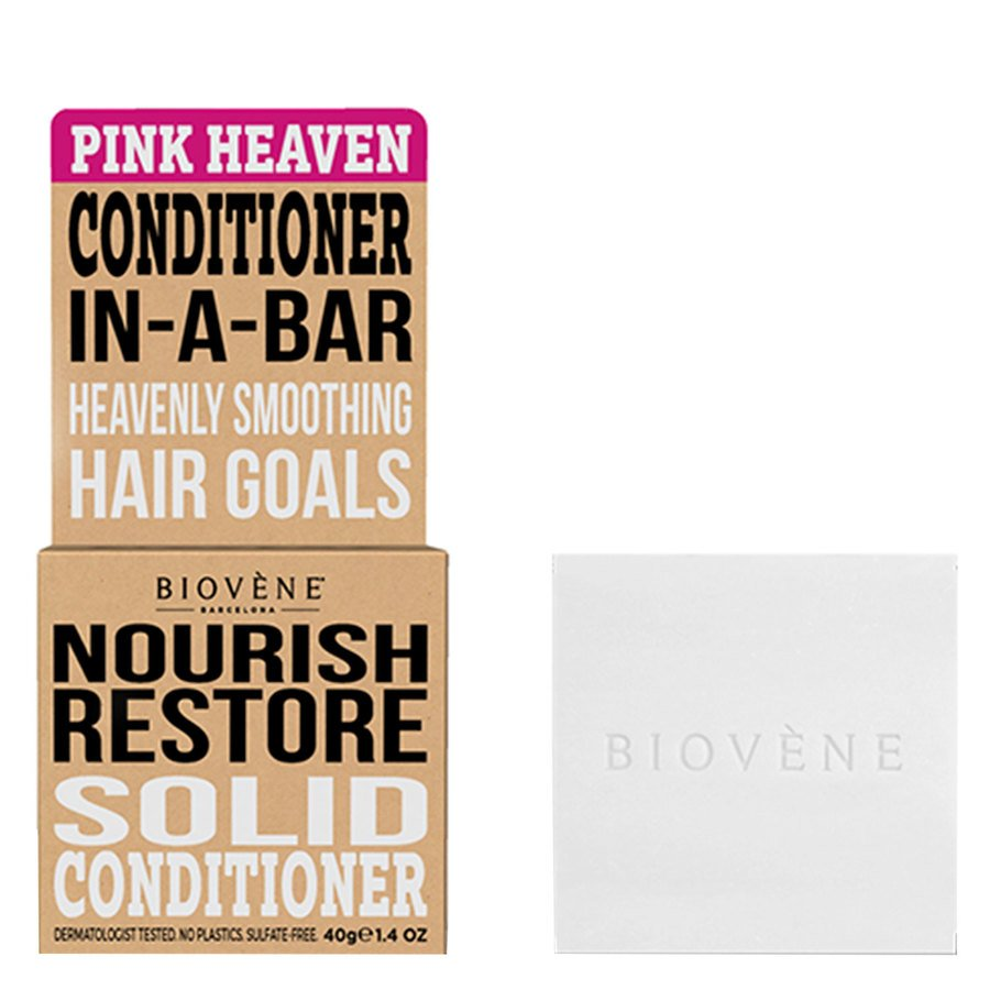 Biovène Hair Care Conditioner Bar Nourish Restore Pink Heaven 40g