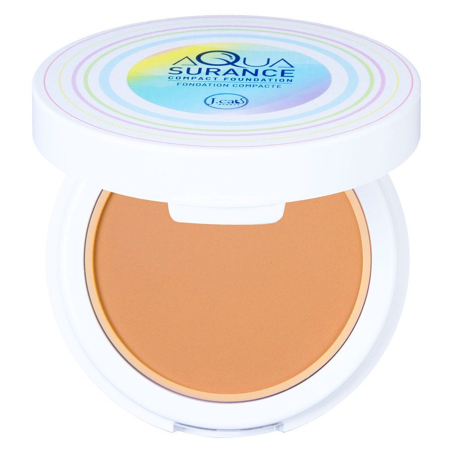 J.Cat Aquasurance Compact Foundation (9 g), Medium Beige