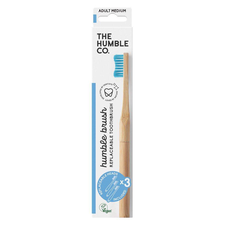 The Humble Co. Humble Brush Interchangeable Head Blue Medium