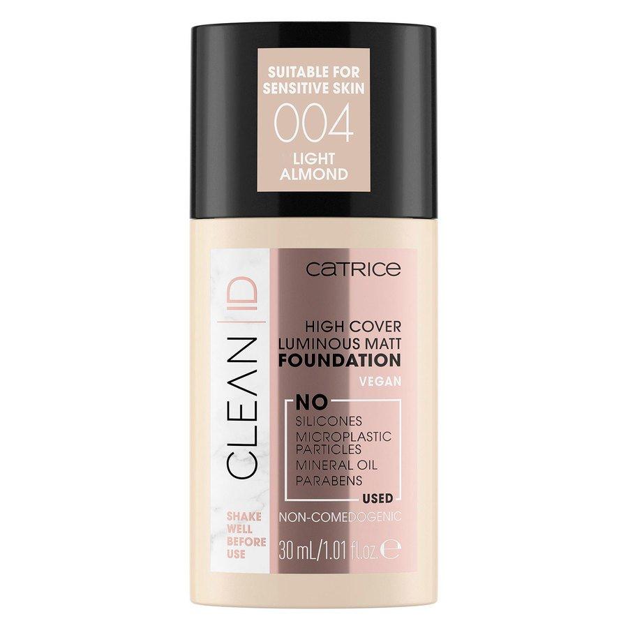 Catrice Clean ID High Cover Luminous Matt Foundation 30ml, 004 Light Almond