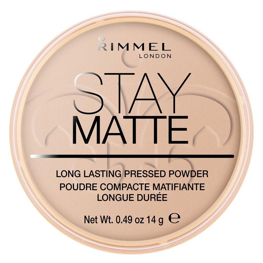 Rimmel Stay Matte Pressed Face Puder, Silky Beige 005 (14 g)