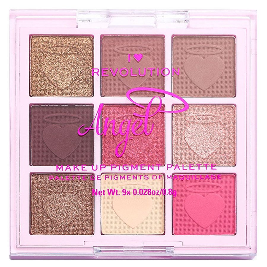 Makeup Revolution I Heart Revolution Fantasy Makeup Pigment Palette (9 x 0,8 g), Angel