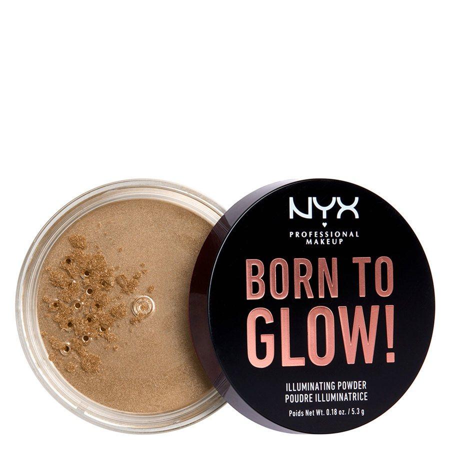 NYX Professional Makeup Born To Glow Illuminating Powder (5,3 g), Ultra Light Beam