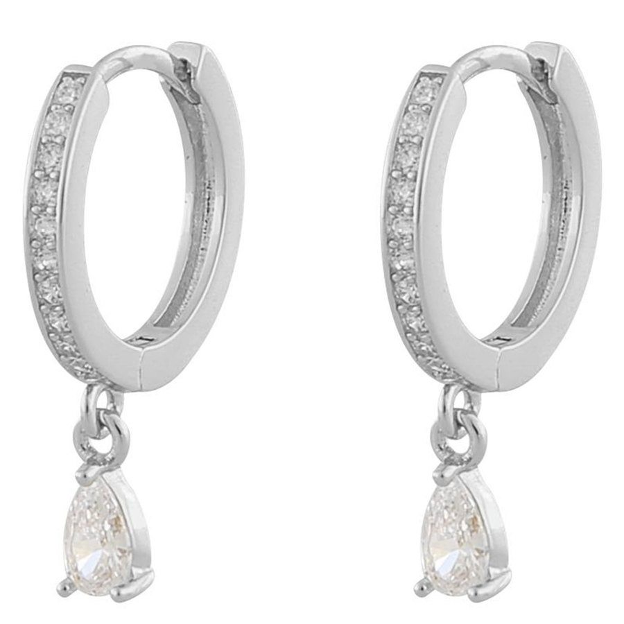 Snö Of Sweden Camille Drop Ring Earring Silver / Clear