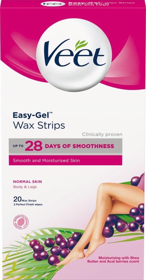 Veet Easy-Gel Wax Strips Normal Skin Body & Legs 20szt