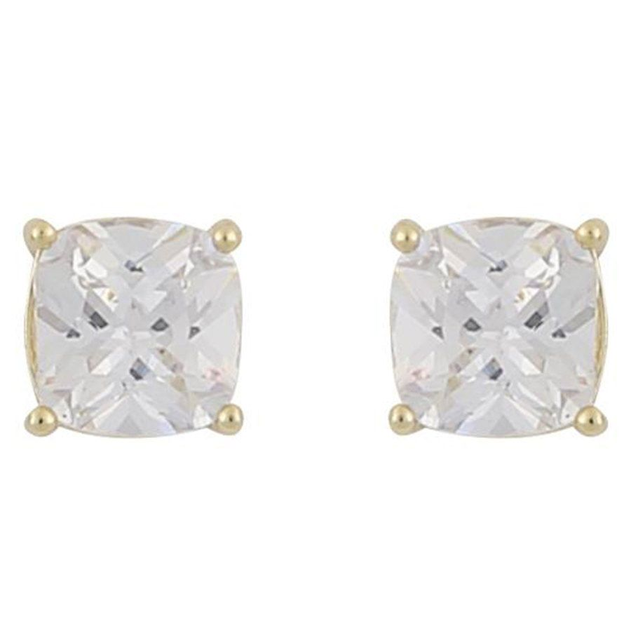 Snö Of Sweden Camille Square Stone Earring Gold / Clear