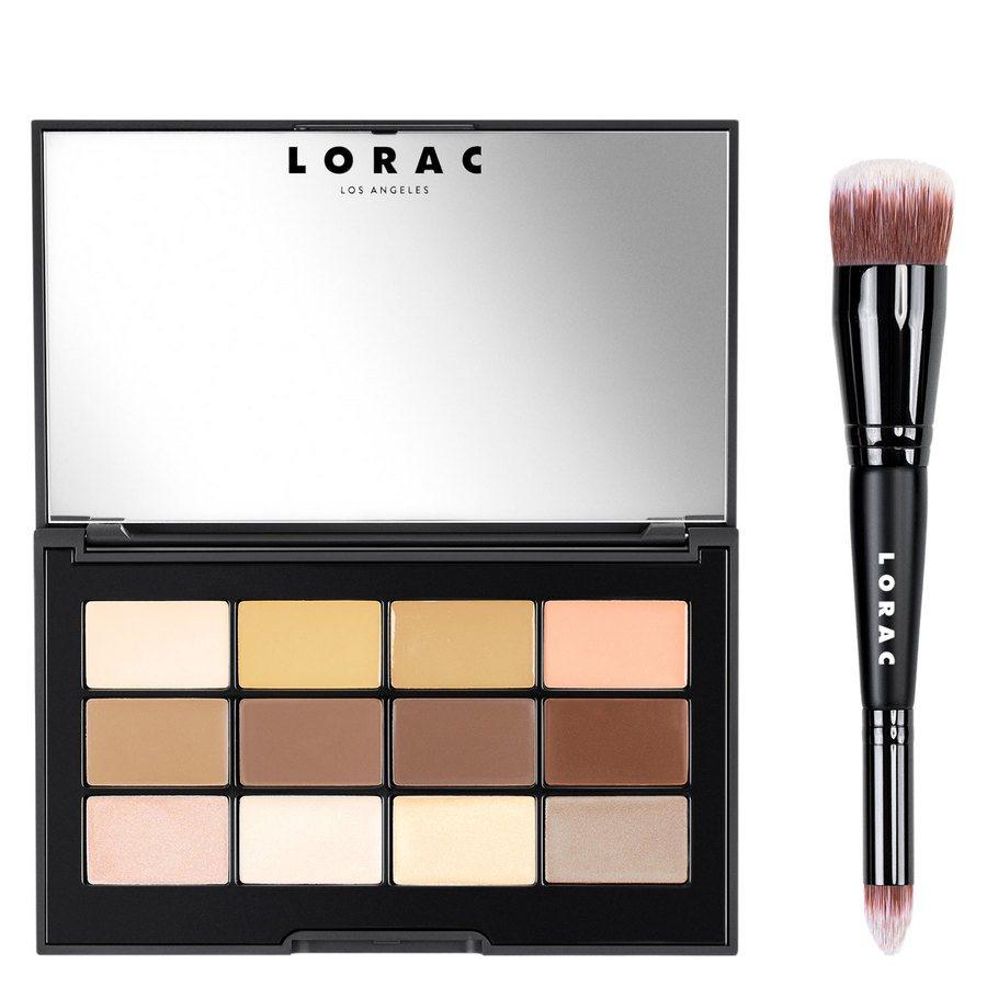 LORAC PRO Conceal & Contour Palette & Makeup Brush