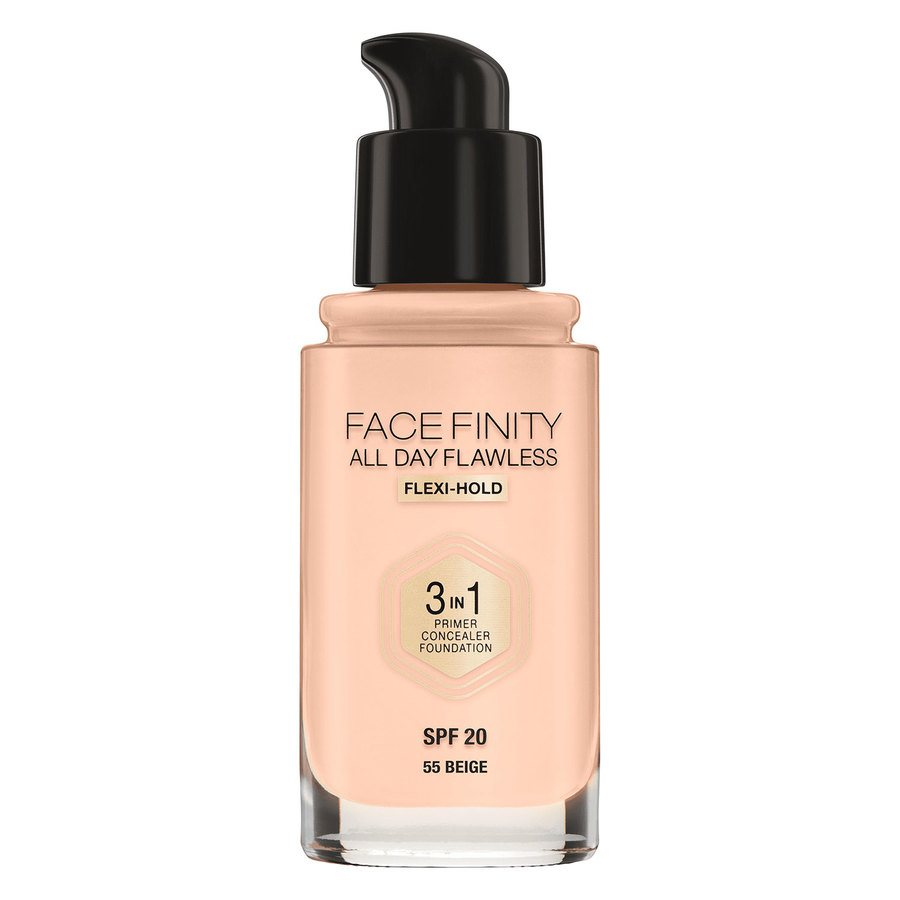 Max Factor Facefinity All Day Flawless 3-In-1 Foundation (30 ml) ─ # 55 Beige