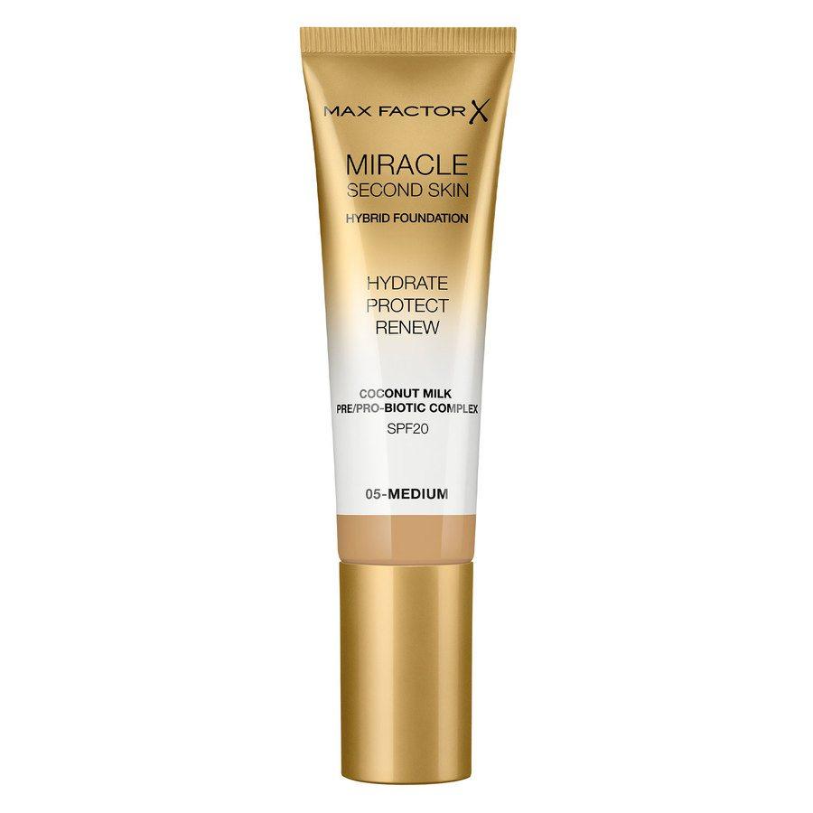 Max Factor Miracle Second Skin Foundation - #005 Medium (33 ml)