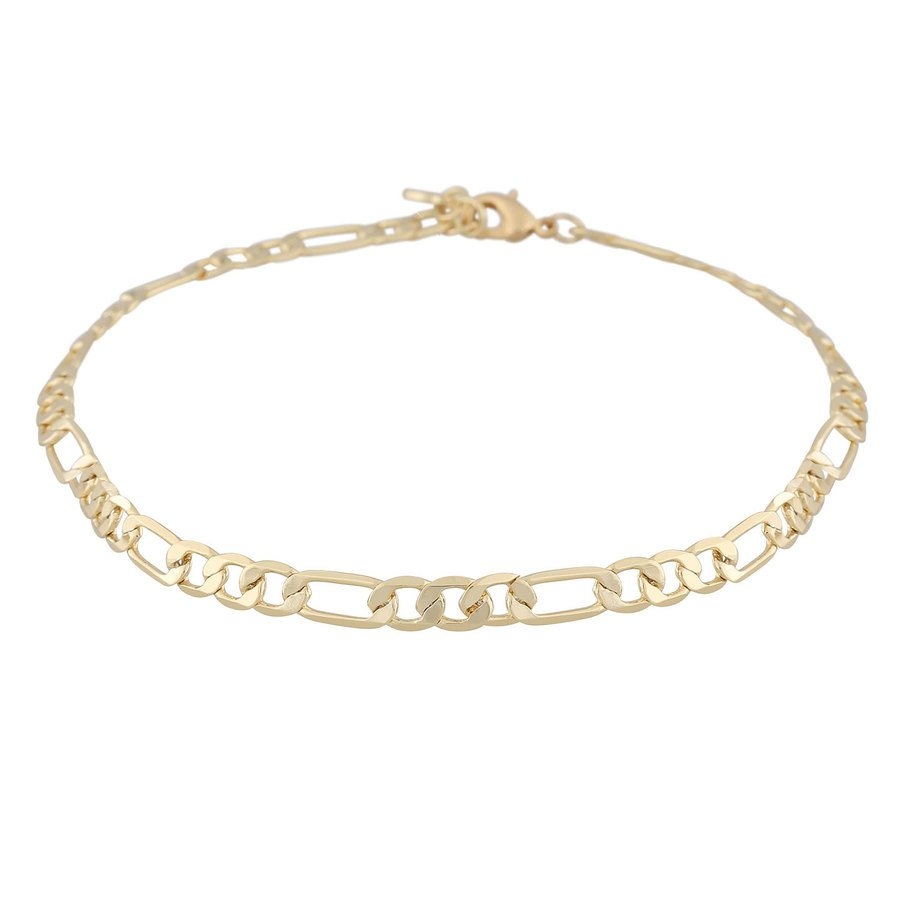 Snö Of Sweden Anchor Small Chain Bracelet Plain Gold