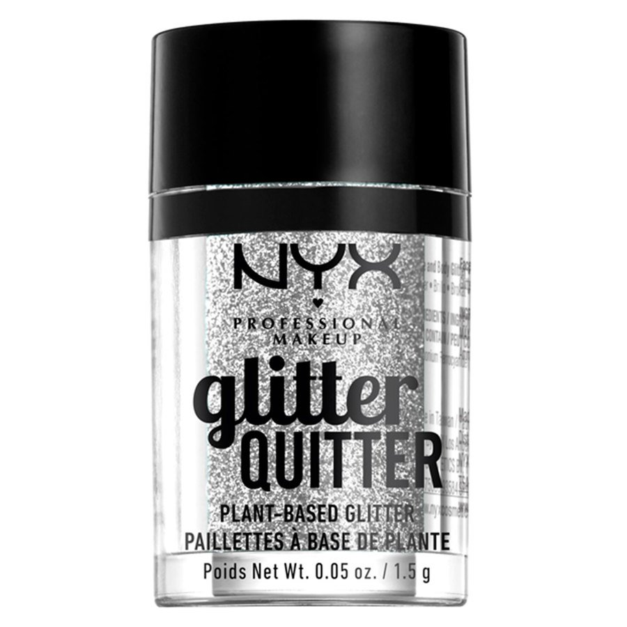 NYX Professional Makeup Glitter Quitter Plant Based Glitter Silver (1,5 g)