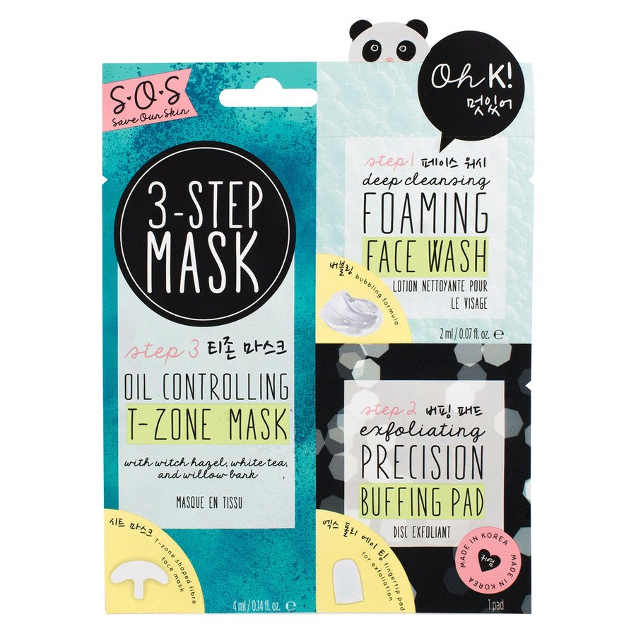 Oh K! SOS 3-Step T-Zone Mask (3 szt.)