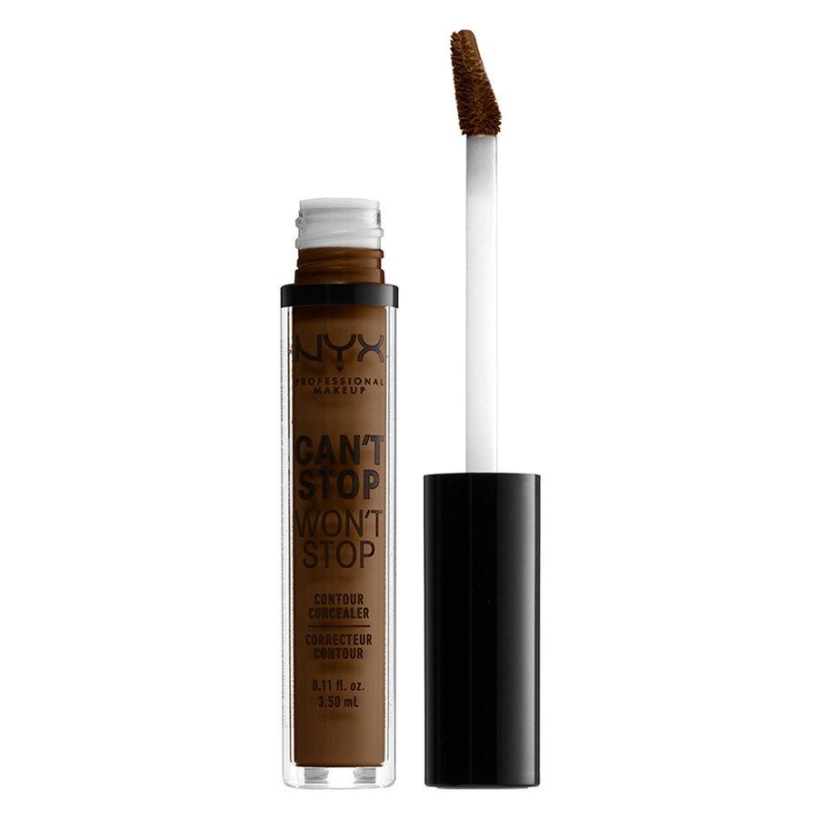 NYX Professional Makeup, Can't Stop Won't Stop Contour Concealer (3,5 ml), Walnut