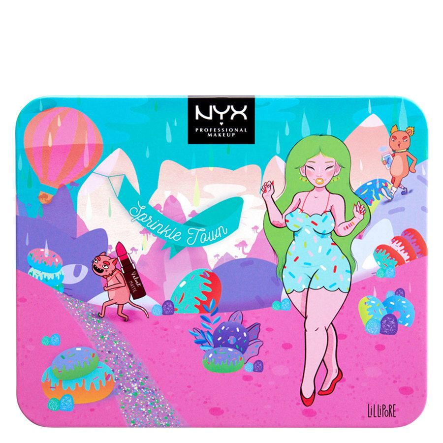 NYX Professional Makeup Sprinkle Town Shimmer Eye & Lip Set
